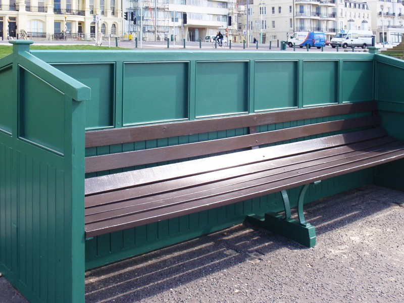"Medite Tricoya ideal for Brighton & Hove Seafront ""Cucumber"" Benches"