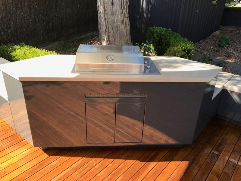 Tricoya utilised within alfresco kitchens in Australia